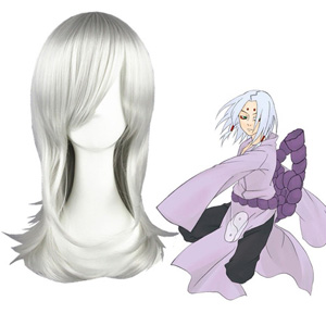 Naruto kaguya kimimaro Silvery White Cosplay Wigs