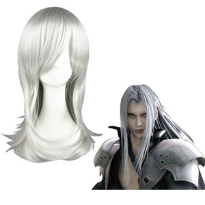 Final Fantasy Sephiroth Silbrige Weiß Faschings Cosplay Perücken