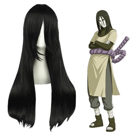 Naruto Orochimaru Preto Perucas Cosplay