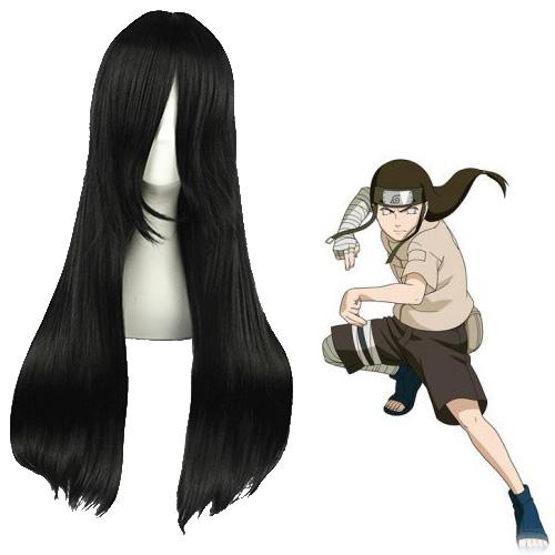 Naruto Hyūga Neji Schwarz Cosplay Perücken
