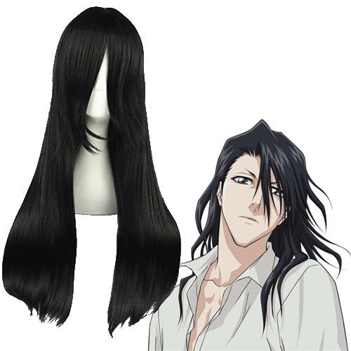블리치 Kuchiki Byakuya 검은 코스프레 가발