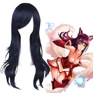 League of Legends Ahri Black Blue Cosplay Wigs