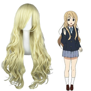 K-On! Kotobuki Tsumugi Bleek Goud Cosplay Pruiken