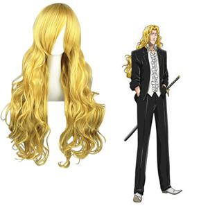 Bleach Rōjūrō Otoribashi Golden 80cm Cosplay Wigs