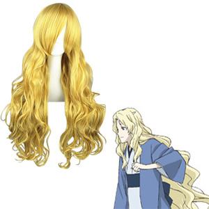 Natsume Yuujinchou Sasafune Gyldne udklædning Parykker