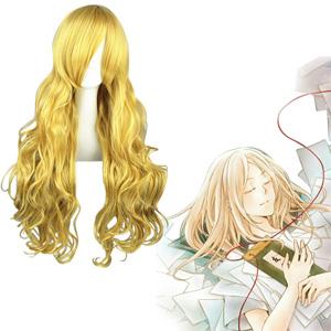 Natsume Yuujinchou Hotaru Zlatý 80cm Cosplay Parochne