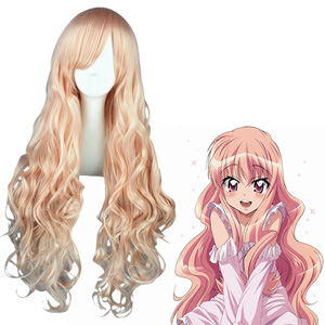 The Familiar of Zero Tsukaima Louise Light Pink Cosplay Wigs
