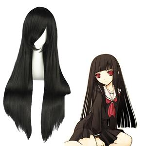 Адская девочка Enma Ai Чёрный Косплей Парик