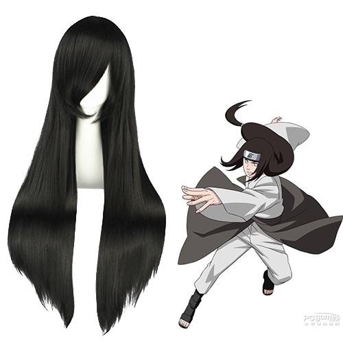 Naruto Hyūga Neji Zwart Cosplay Pruiken