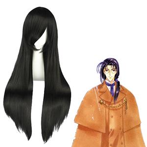 Cardcaptor Sakura Clow Reed Musta Cosplay Peruukit