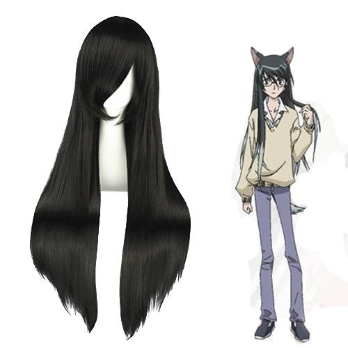 LOVELESS Shioiri Yayoi 검은 코스프레 가발