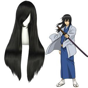 Gintama KatsuraKotarou 검은 코스프레 가발