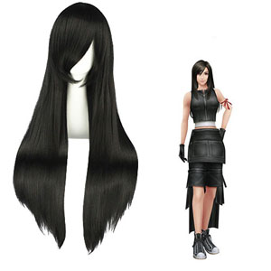 Final Fantasy Tifa.Lockhart Black Cosplay Wig