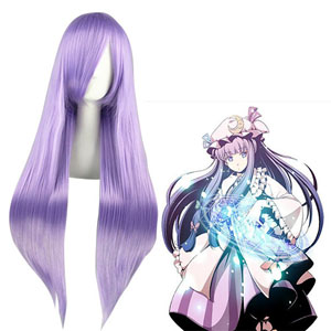 Pelucas TouHou Project Patchouli Knowledge Purpúreo Claro Cosplay