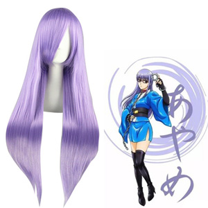 Gintama Sarutobi Ayame Light Purple Cosplay Wigs