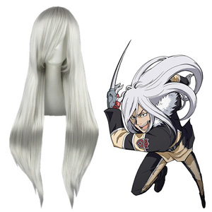 Hitman Reborn Superbia Squalo Silvery White Fashion Cosplay Wigs
