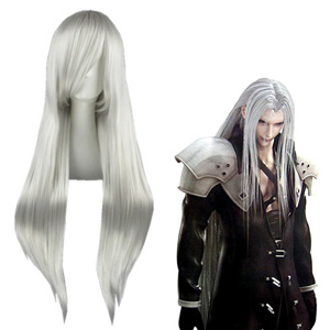 Final Fantasy Sephiroth Silvery White Cosplay Wigs