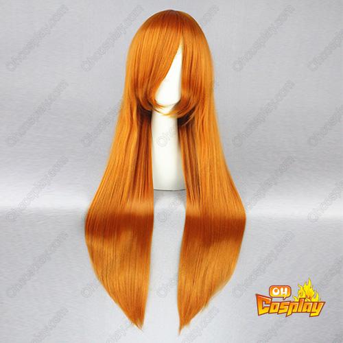 블리치 Inoue Orihime 주황색 코스프레 가발