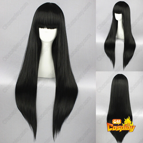 Umineko no Naku Koro ni The Seven Sisters Lucifer Black Cosplay Wig