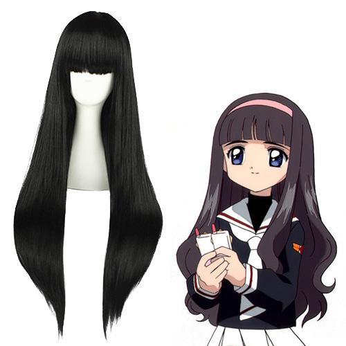 Cardcaptor Sakura Daidouji Tomoyo Preto Perucas Cosplay