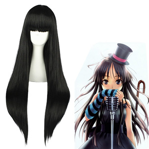 K-ON! Akiyama Mio Zwart Cosplay Pruiken