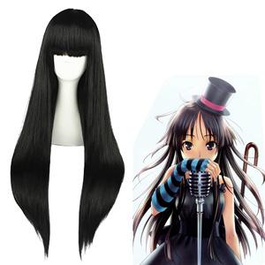 K-ON! Akiyama Mio Fekete Cosplay Parókák