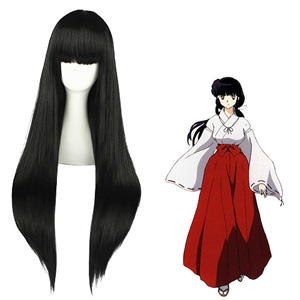 Inuyasha Kikyou Black Fashion Cosplay Wigs