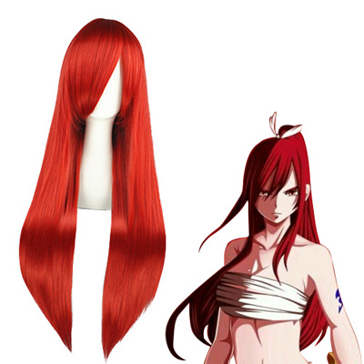 Fairy Tail Erza Scarlet Red Fashion Cosplay Wigs