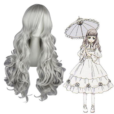 Black Butler Queen Victoria Silvery Gray Cosplay Wigs