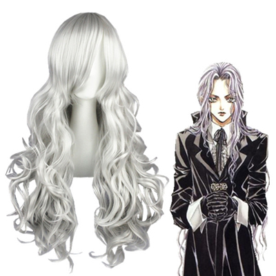 Angel Sanctuary Rosiel Silvery Gray Cosplay Wig