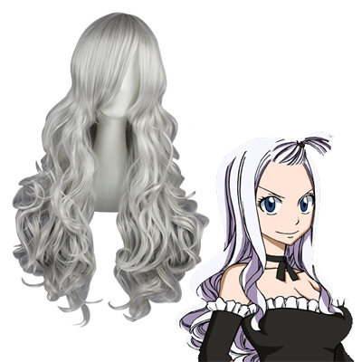 Fairy Tail Mirajane·Strauss Silvery Gray Cosplay Wigs