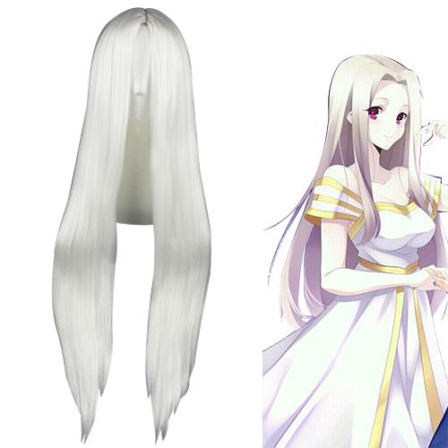Fate/Zero Night Irisviel von Einzbern Branco Perucas Cosplay