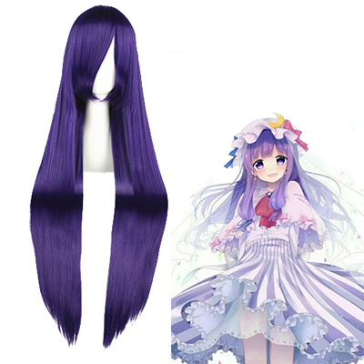 TouHou Project Patchouli Knowledge Roxa Perucas Cosplay