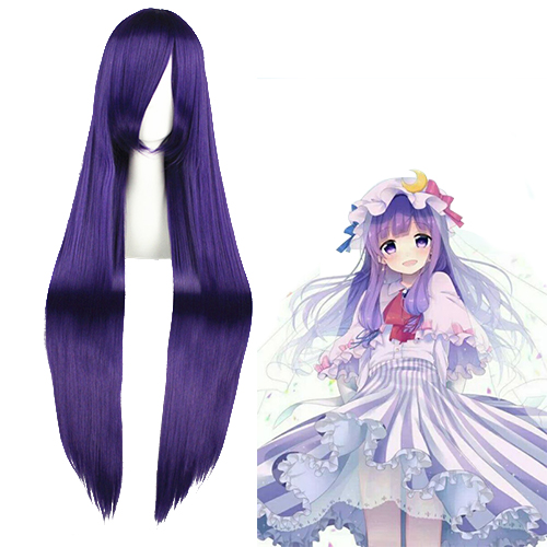 TouHou Project Patchouli Knowledge Purper Cosplay Pruiken