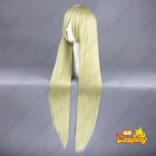 Our Home\'s Fox Deity Yukana Licht Blonde Cosplay Pruiken