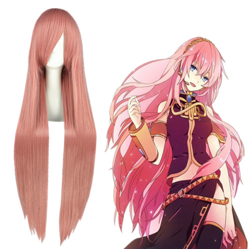 Vocaloid Megurine Luka Rosa Perucas Cosplay