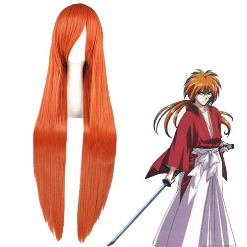 Rurouni Kenshin Himura Kenshin Laranja Perucas Cosplay