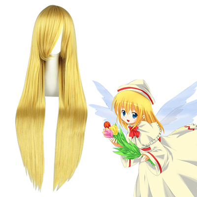 Umineko: When They Cry Lily White Golden Fashion Cosplay Wigs
