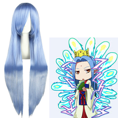 Gintama Kujakuhime kada Light Blue Cosplay Wig