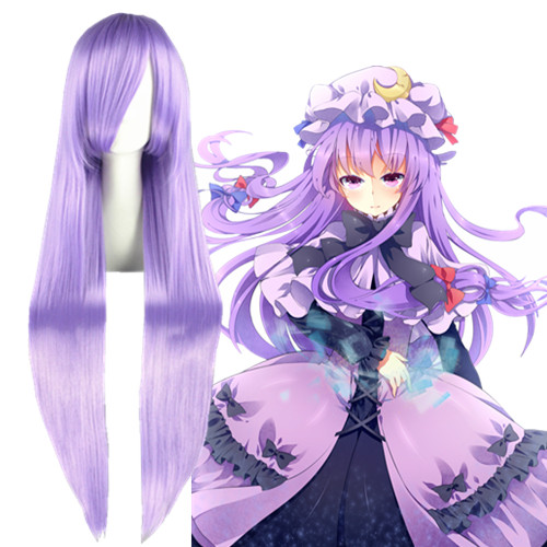 TouHou Project Patchouli Knowledge Lavender Perucas Cosplay