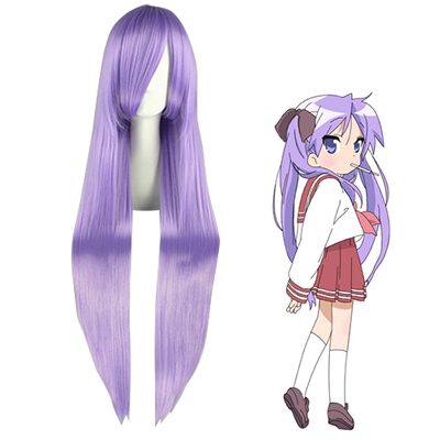Lucky Star Hiiragi Kagami Lavender Parrucche Cosplay