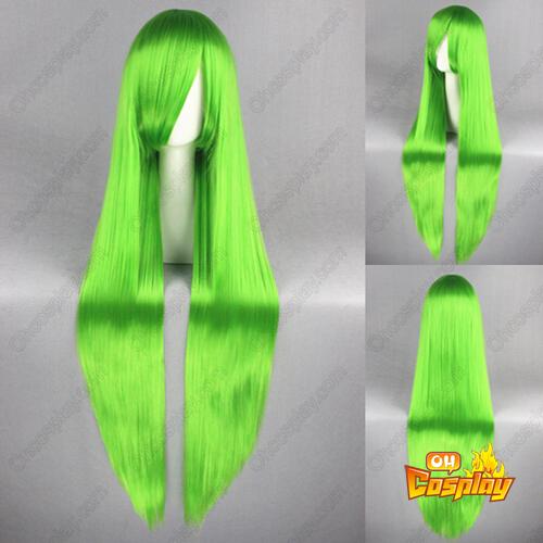 동방 프로젝트 Kagiyama Hina 녹색 코스프레 가발