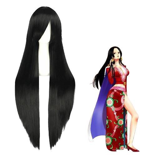 One Piece Boa Hancock 100cm Black Cosplay Wig