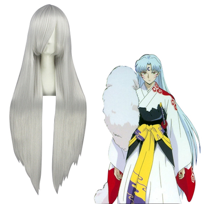 Inuyasha Sesshoumaru Silvery White Fashion Cosplay Wigs