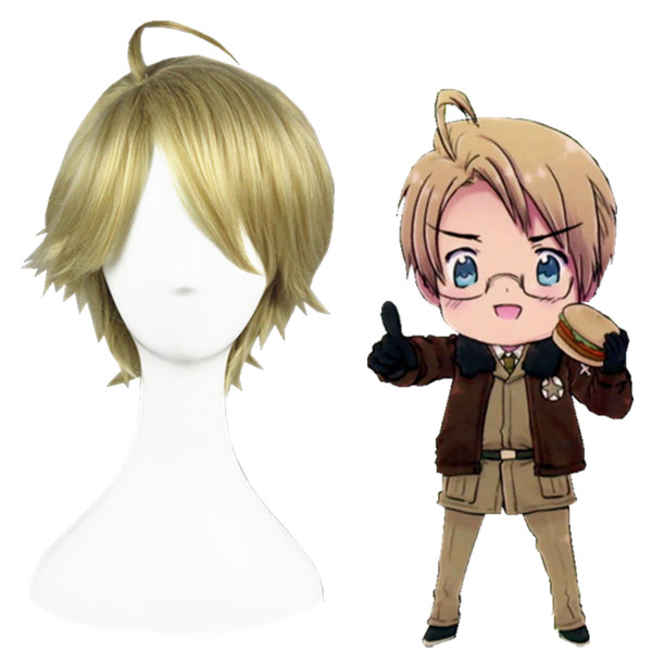Axis Powers Hetalia Alfred F Jones Cosplay Pruiken