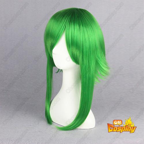 보컬로이드 2 Gumi 녹색 55cm 코스프레 가발