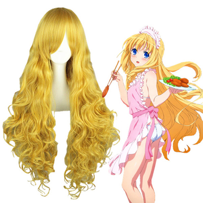 Amagi Brilliant Park Latifa Fleuranza Light Yellow Fashion Cosplay Wigs