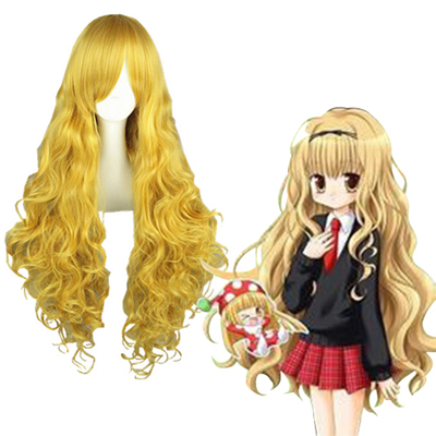 Shugo Chara Mashiro Rima Light Yellow Cosplay Wig