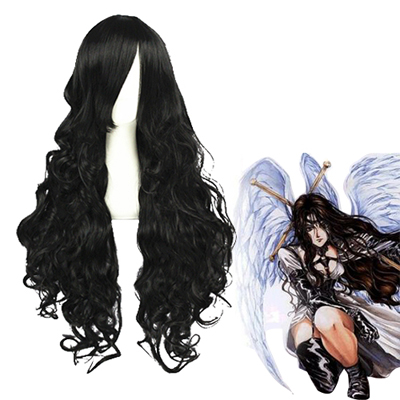 Angel Sanctuary Alexiel Black Fashion Cosplay Wigs