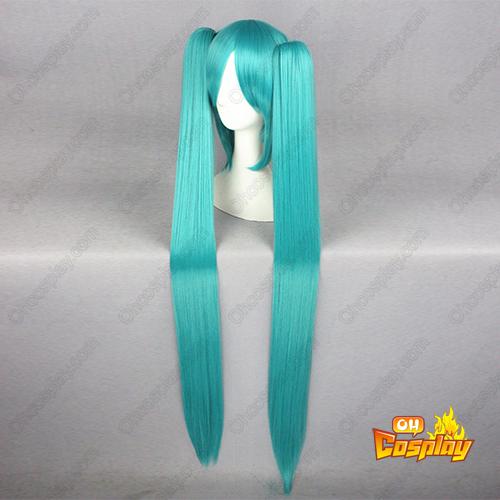 보컬로이드 Hatsune Miku 푸른 녹색 코스프레 가발